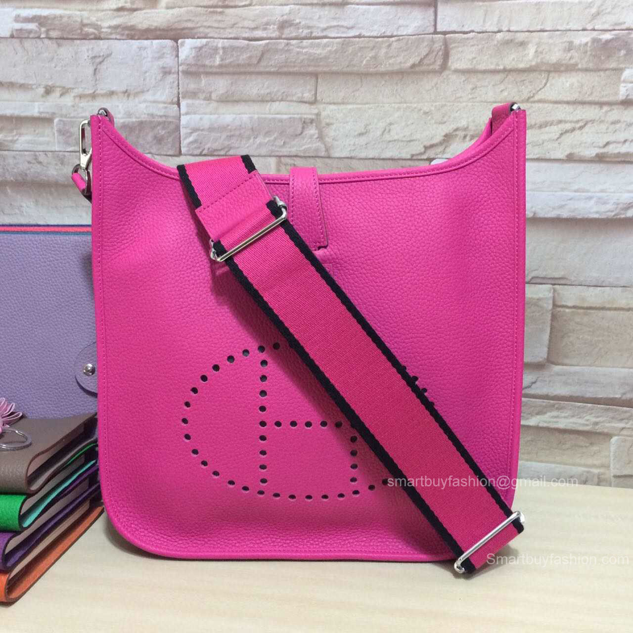 Hermes Evelyne III Bag PM in Hot Pink Togo Leather