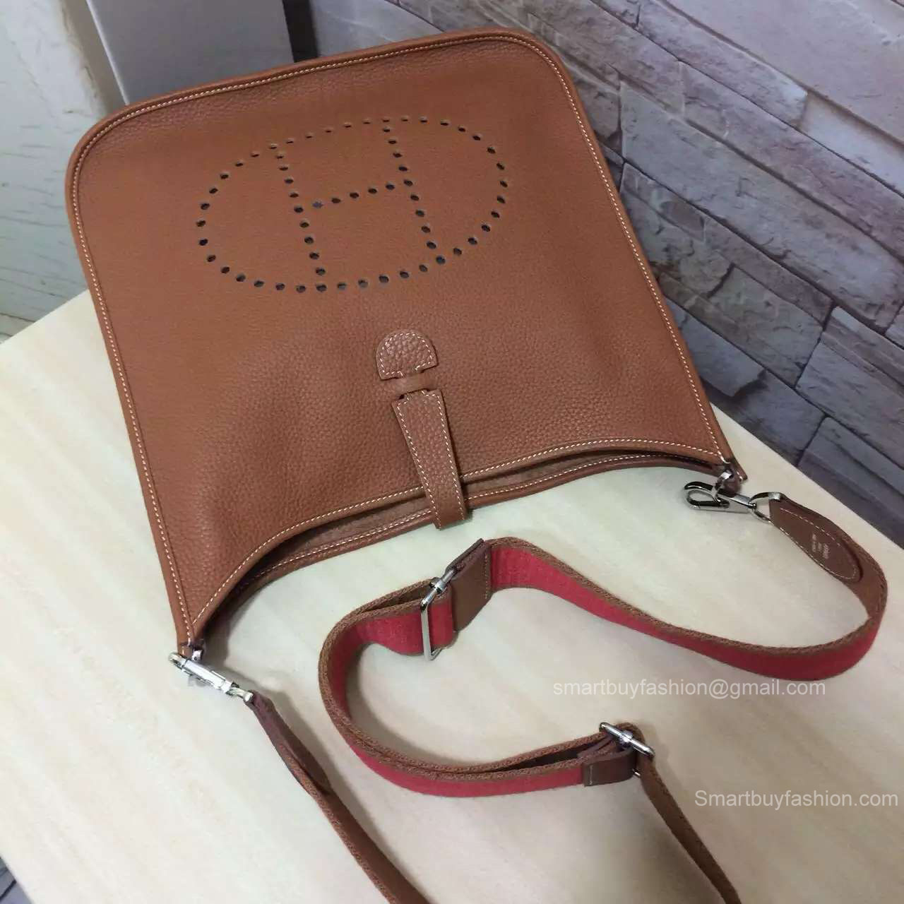Hermes Evelyne III Bag GM in Brown Togo Leather
