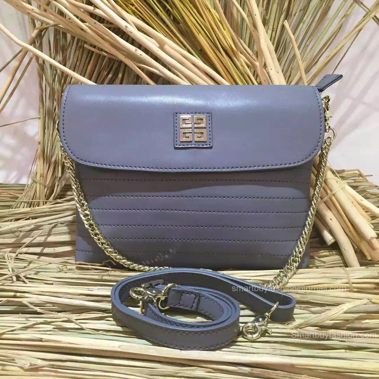 Givenchy Small Chain Flap Bag Grey 286140