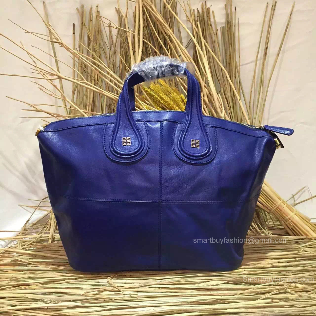 7506c0c66942 Givenchy Nightingale Deep Blue Bag With Metal Logo 285161