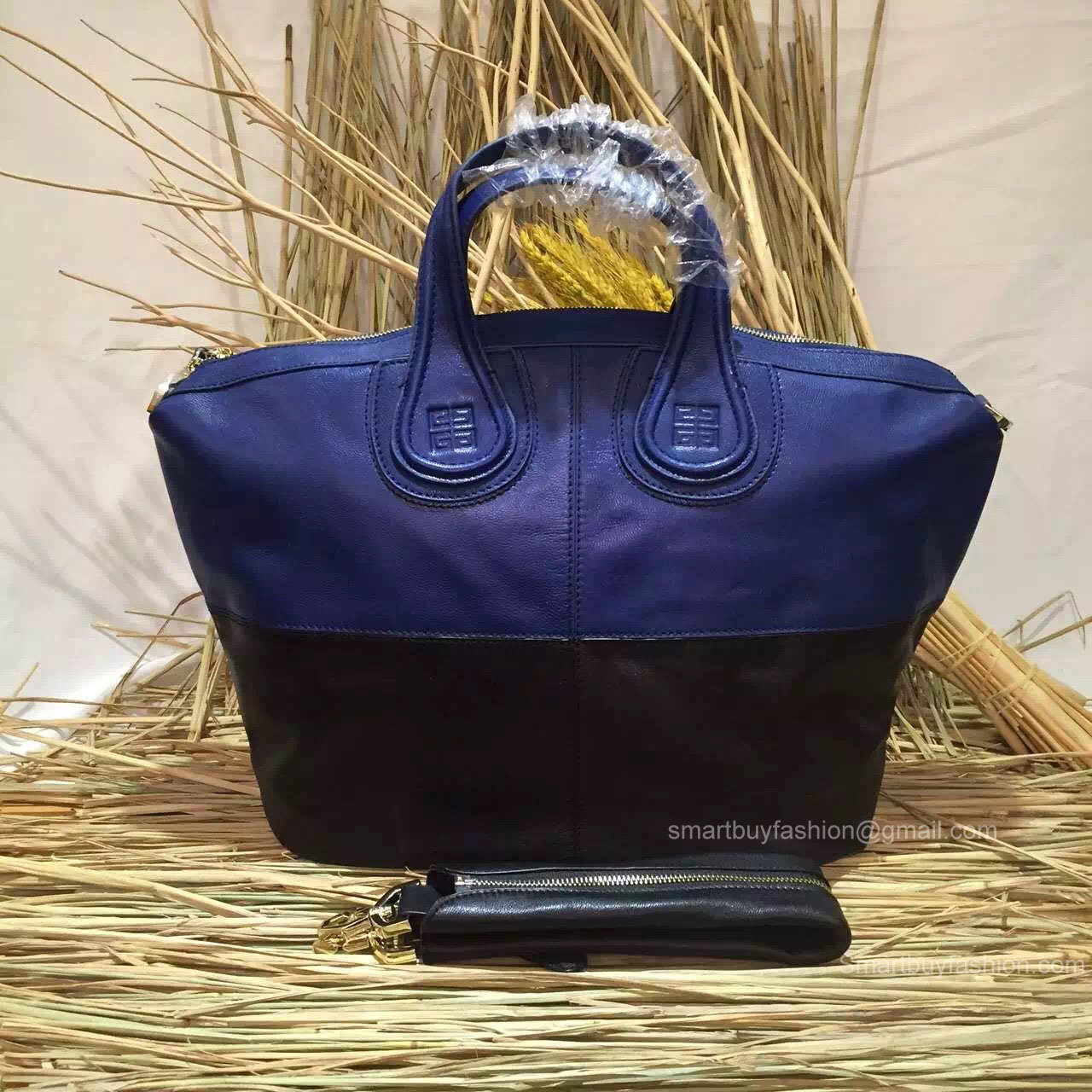 6d37e0838e62 Givenchy Nightingale Bag in Blue and Black Lambskin 285161