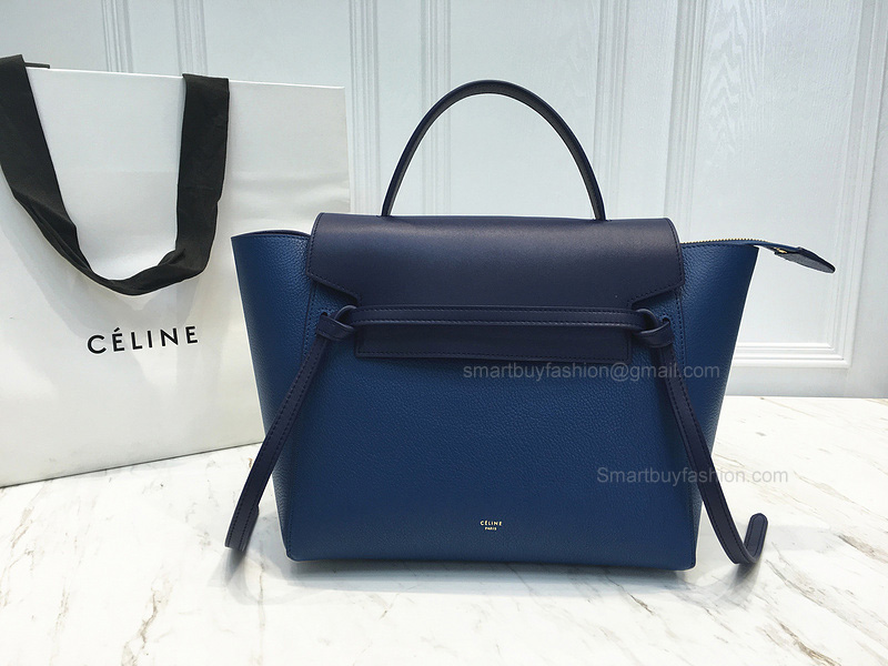 6130ebfe1f63 Ultimate Replica Celine Mini Belt Bag Multi in Sea Blue Goatskin
