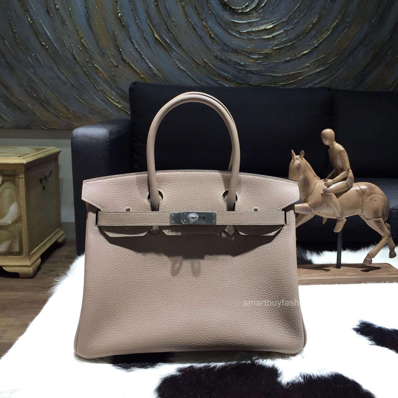 149933e00d Hermes Birkin 35 Bag Gris Tourterelle CK81 Togo Leather Handstitched Silver  hw