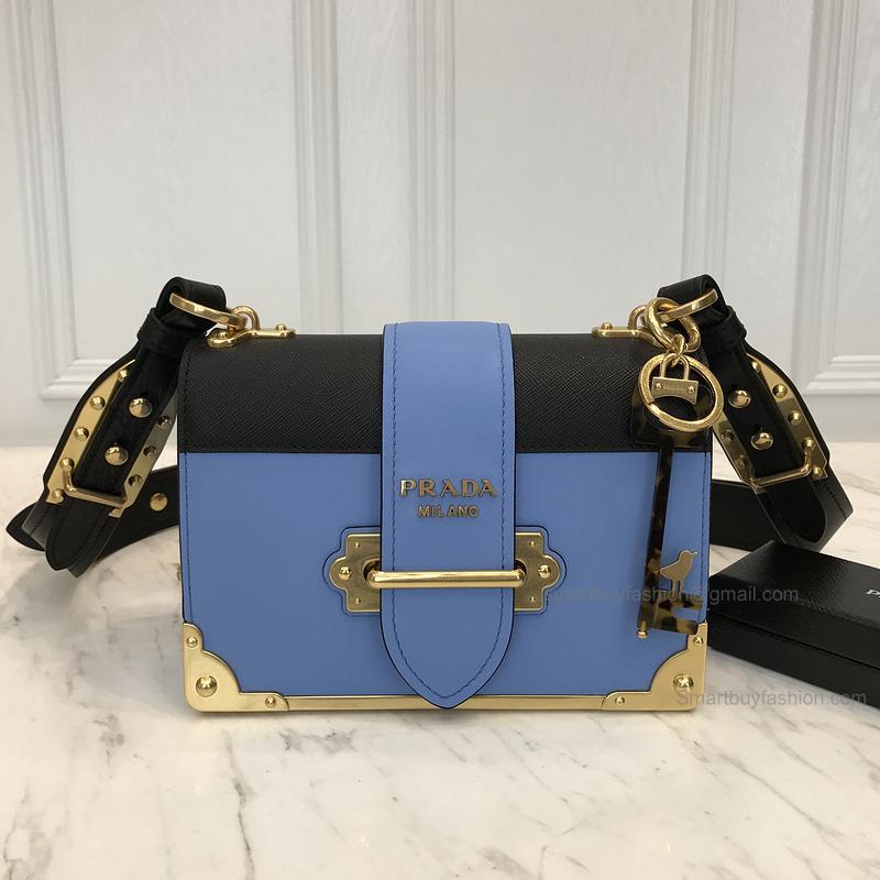 d559aa8c81ed Replica Prada Cahier Bag in Bicolored Astral Calf Leather