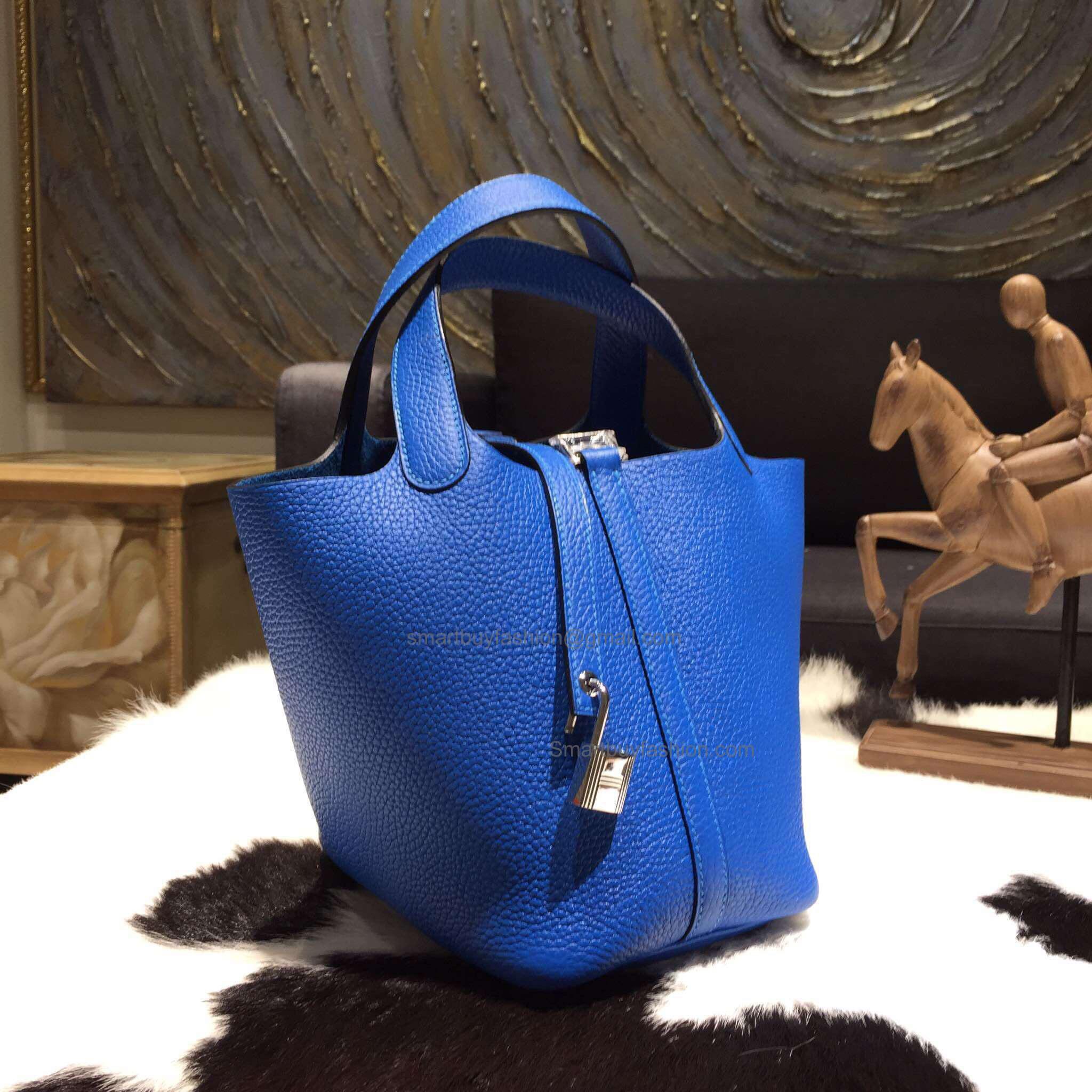 b246ac4d7daa ... good handmade hermes picotin lock 22 tote bag in t7 blue hydra  taurillon clemence 7fb9d 280f2 ...