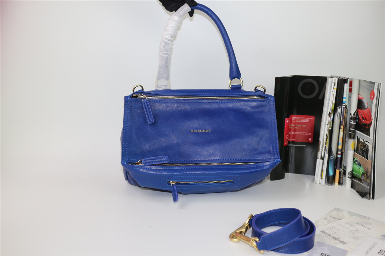 ec1dc01afeed Replica Givenchy Large Pandora Tote in Blue Lambskin