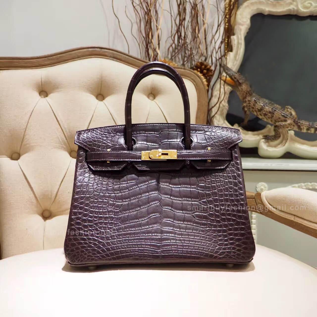 e3167e961160 Hermes Birkin 35 Bag in cc88 Graphite Shiny Porosus Croc PHW - Hermes  Replica