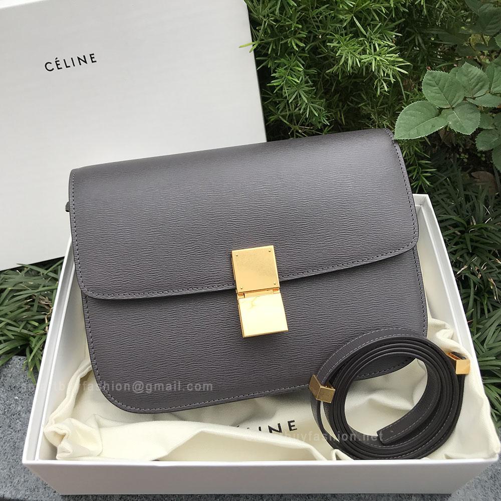 80215ffe409e Celine Medium Classic Bag in Licorice Brown Calfskin Liege
