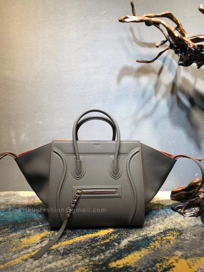 796bd716c3cc Celine Luggage Phantom Bag Medium in Taupe Grained Calfskin
