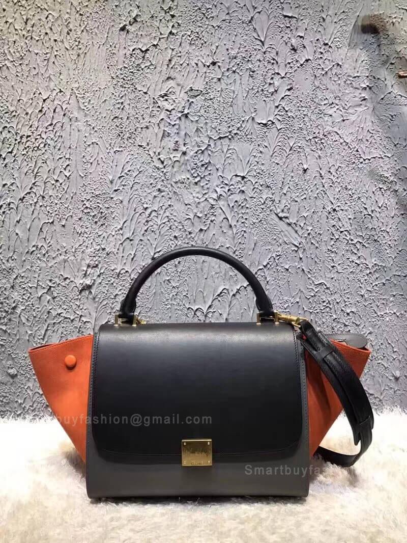 Celine Small Trapeze Bag in Gray Multicolor Calfskin a6c0bb3c06127