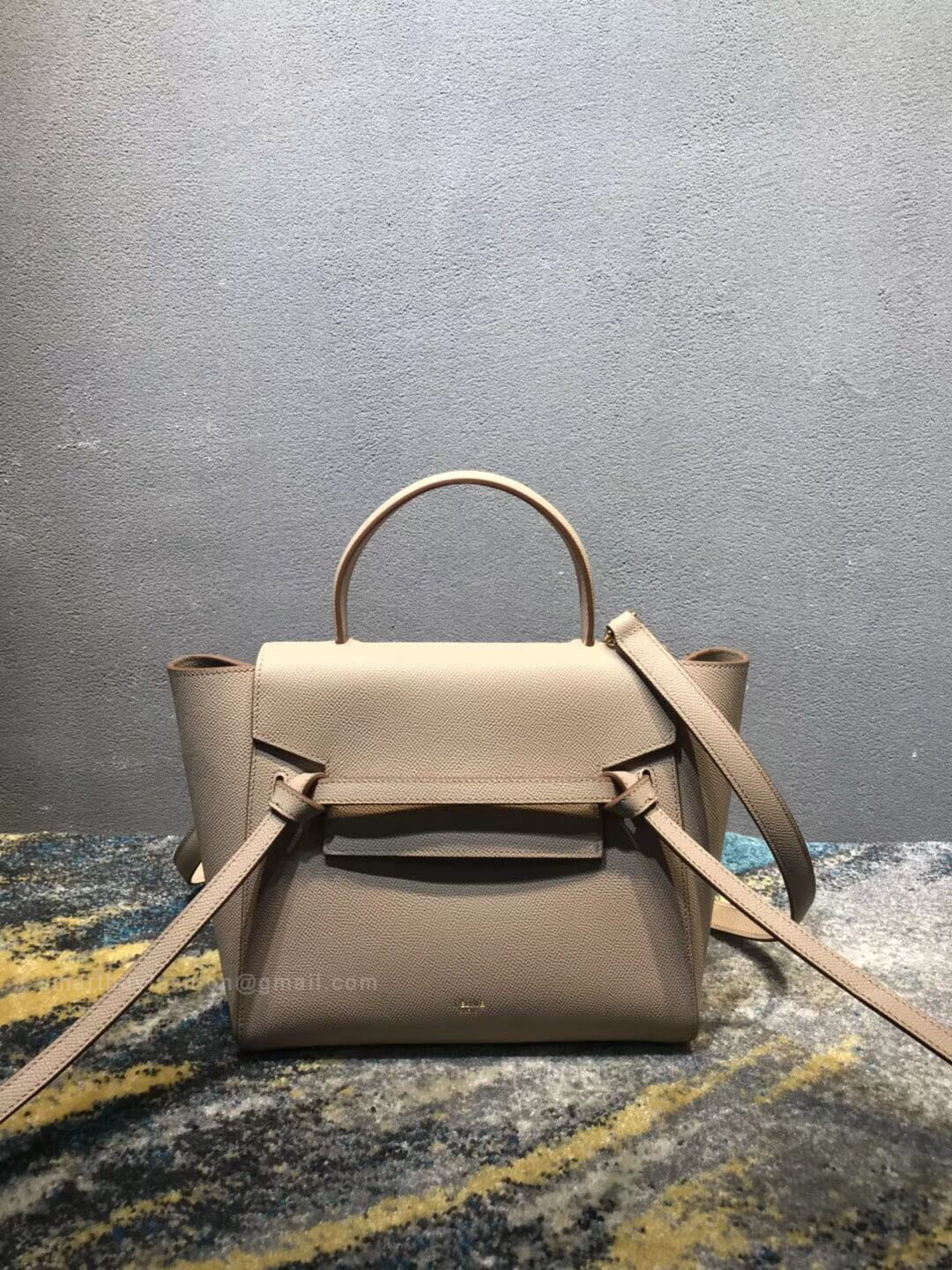 Celine Micro Belt Bag In Light Taupe Grained Calfskin