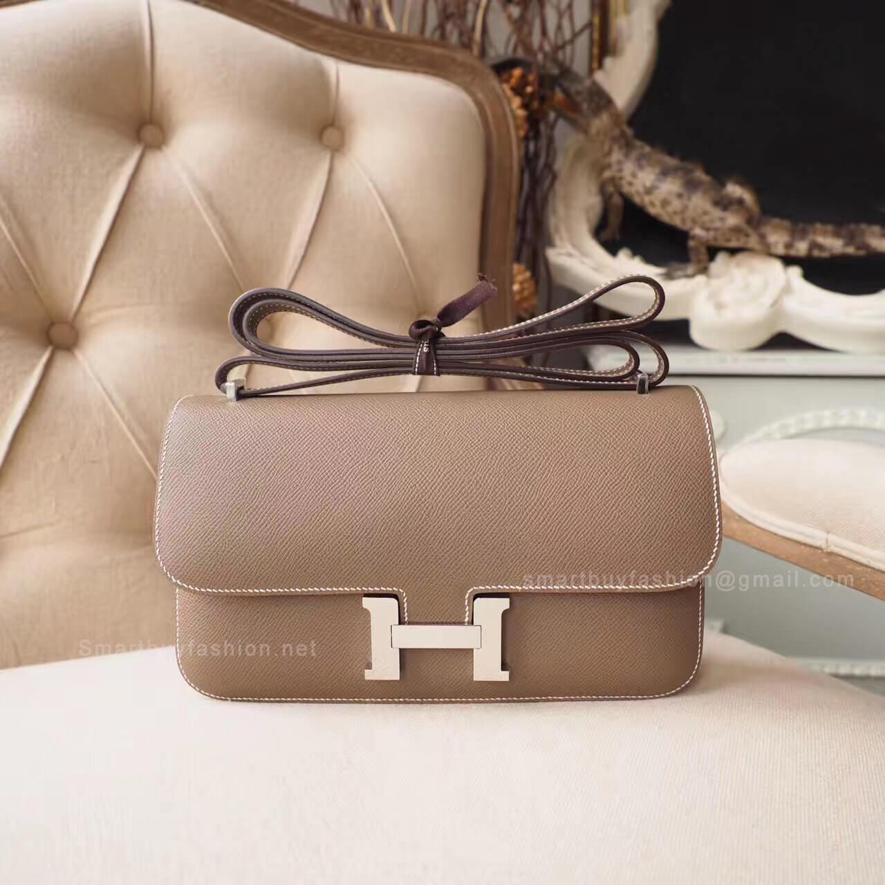 7710ce086e61 Hermes Constance Elan 25 Bag in ck18 Etoupe Epsom PHW