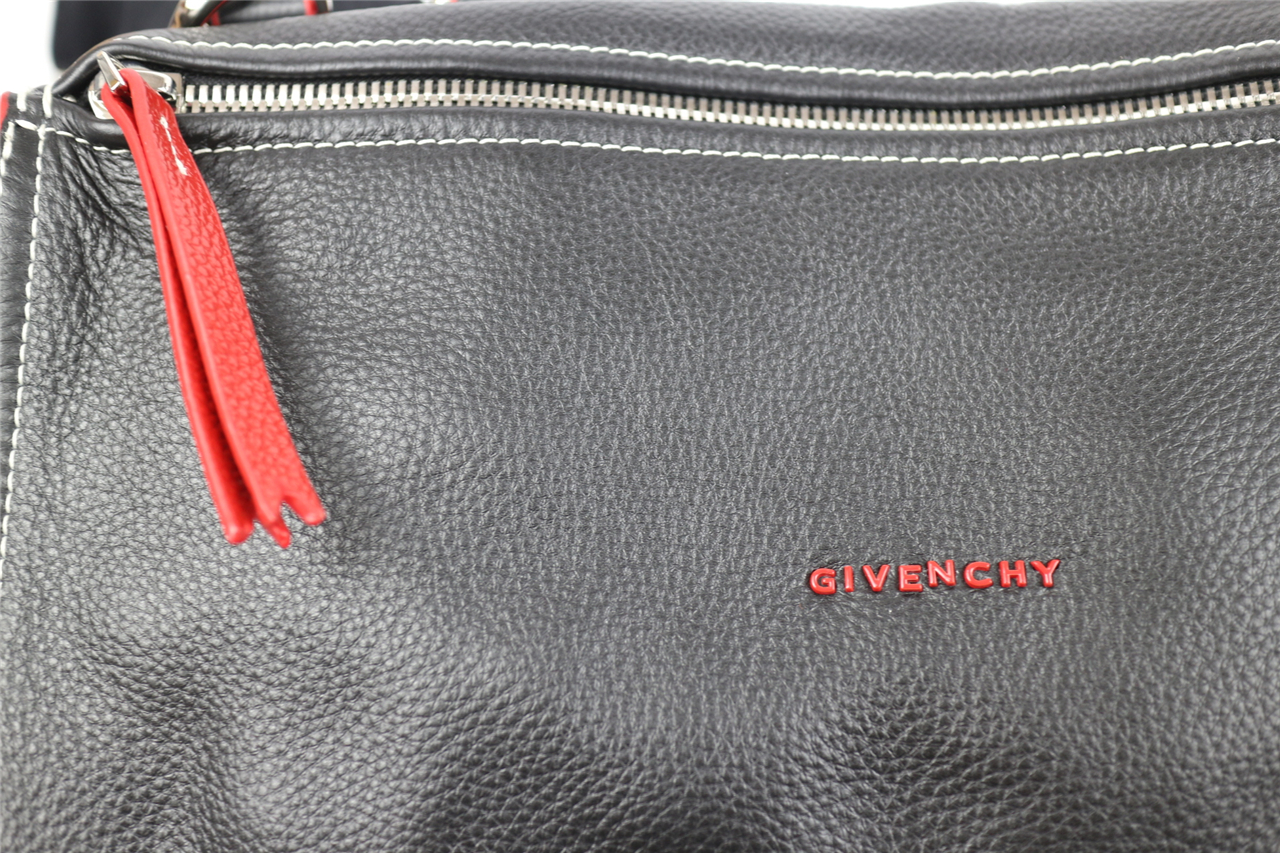b3c0255d513b Replica Givenchy Large Pandora Tote in Black Lambskin with Red Piping.  REPLICA ...