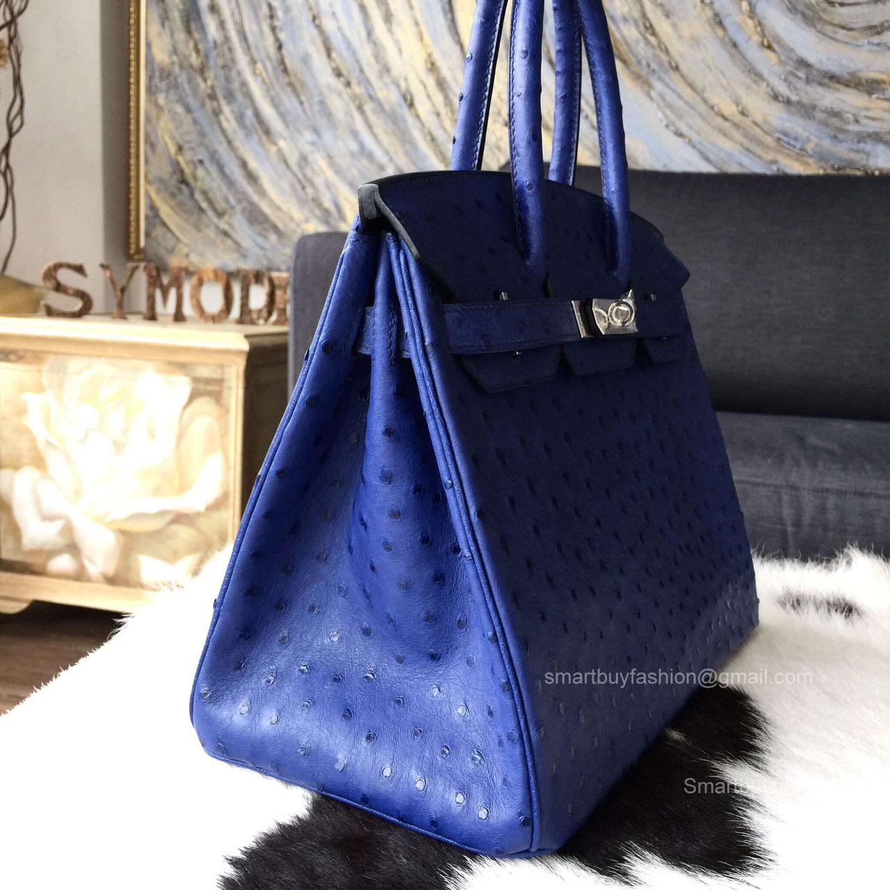 651ce4e6ee ... reduced hermes birkin 30 bag blue iris ostrich leather handstitched  silver hw b3d01 586ee france hermÈs kelly 25 ...