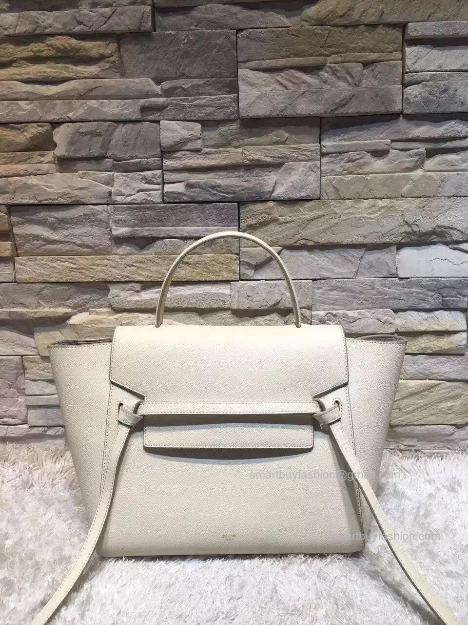 e6724741b825 Replica Celine Mini Belt Bag in Cream Epsom Calfskin ...