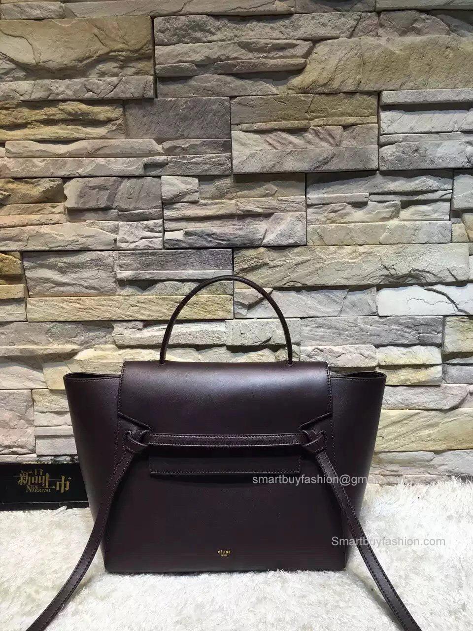 301772b34e63 ... Replica Celine Mini Belt Bag in Burgundy Calfskin