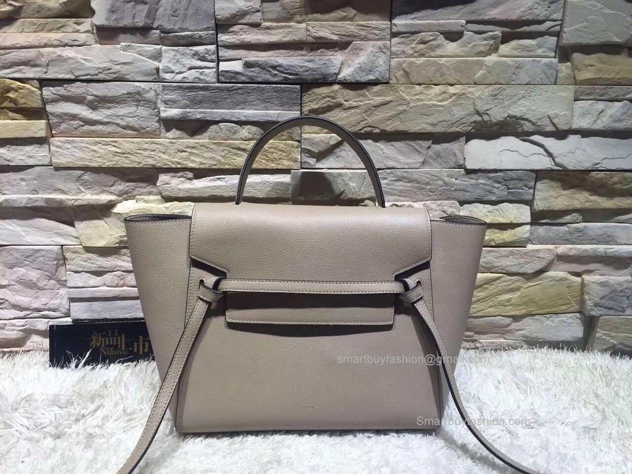 1894314bc3c0 ... Replica Celine Mini Belt Bag in Grey Baby Grained Leather