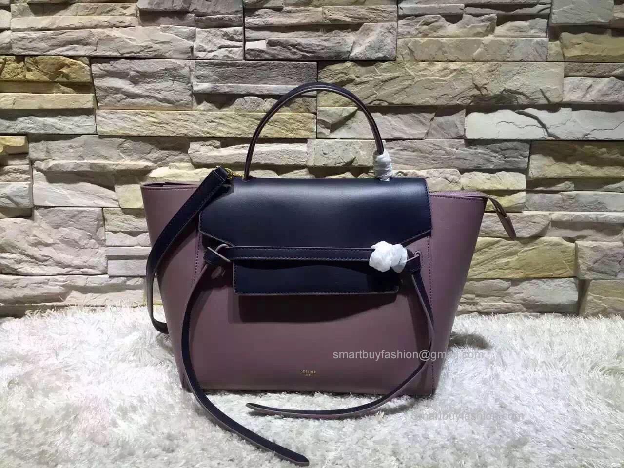 717ea87b2207 Replica Celine Mini Belt Bag in Bicolor Nude Leather ...